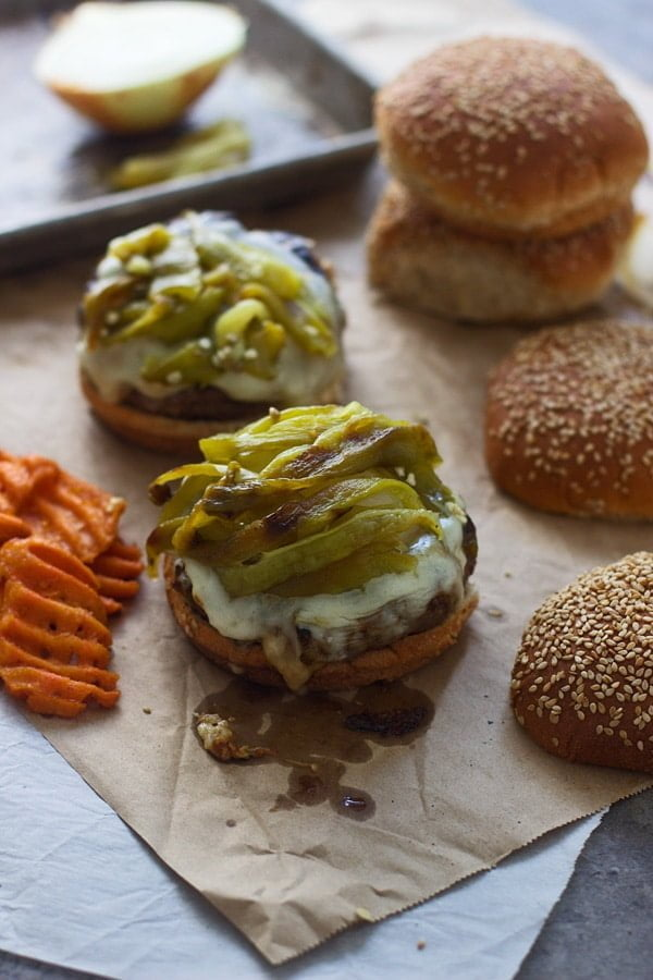 Chopped Hatch Pepper and Bacon Cheeseburgers 5