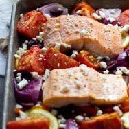 Easy One Pan Greek Salmon