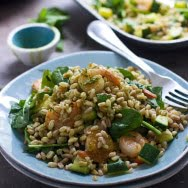 Green Goddess Shrimp and Farro Bowls 5