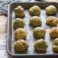 Pesto Parmesan Gougères 5