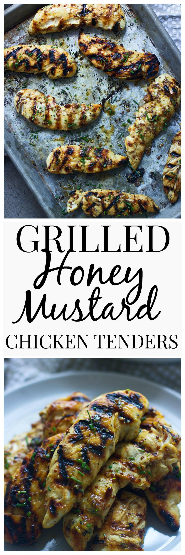 Grilled Honey Mustard Chicken Tenders