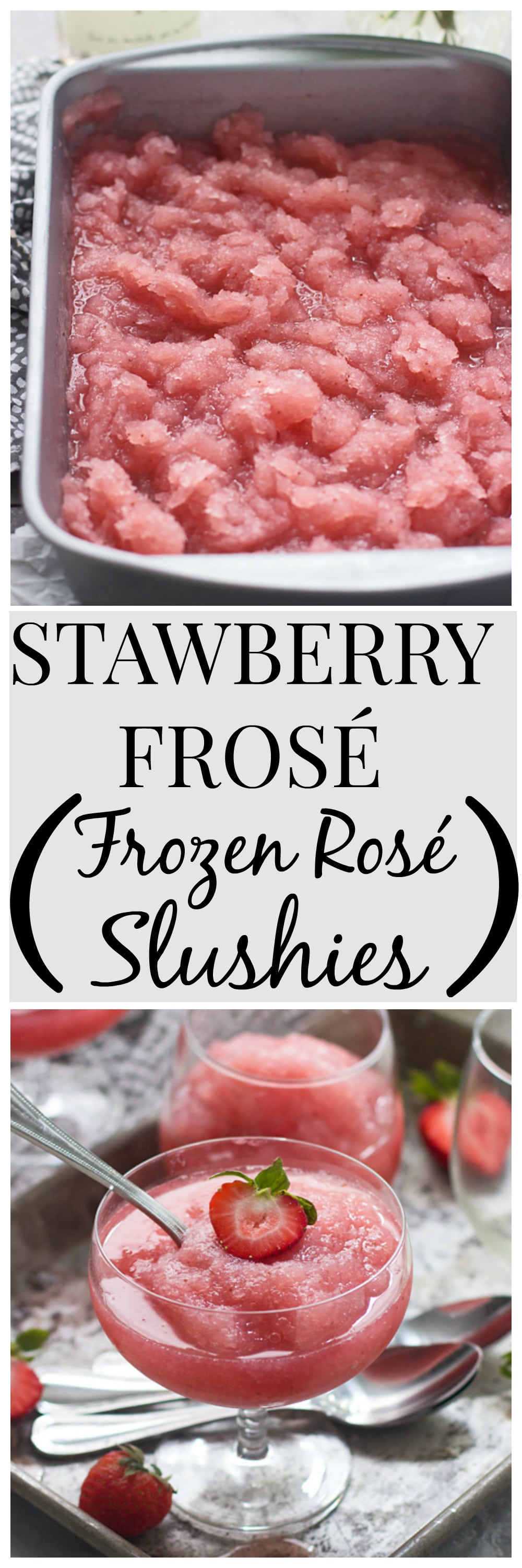 Strawberry Frosé (Frozen Rosé Slushies) - The ONLY drink you'll want for the rest of summer!