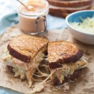 Fish Reuben Sandwich with Homemade Russian Dressing