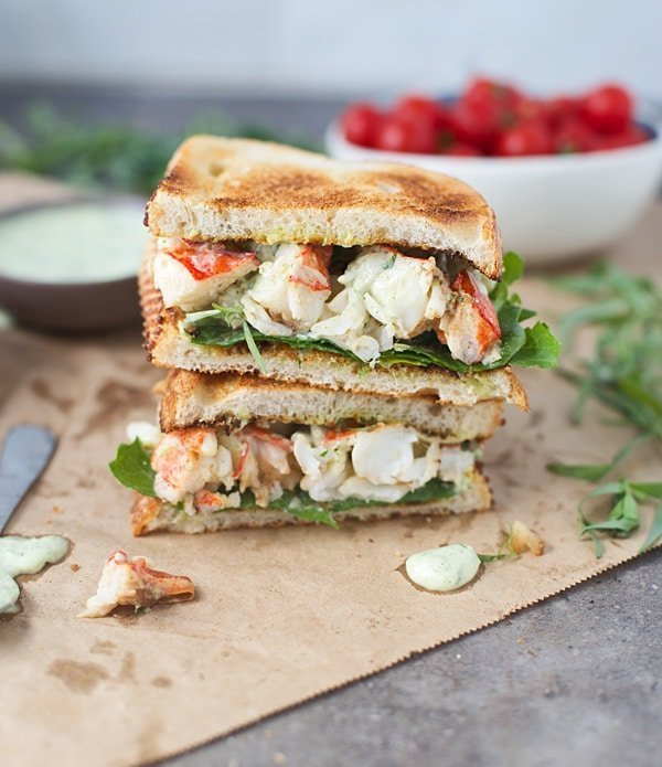 Green Goddess Lobster Sandwiches - Cooking for Keeps