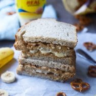 Salty and Sweet Peanut Butter and Pretzel Sandwich
