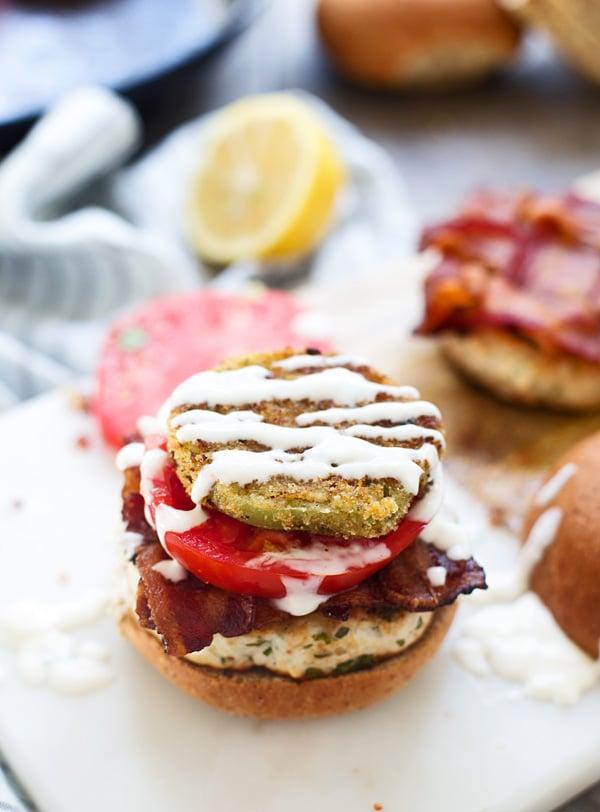 Chimichurri Double BLT Burgers