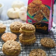 Oatmeal and Coconut Cream Pies with Pumpkin Brown Butter Frosting