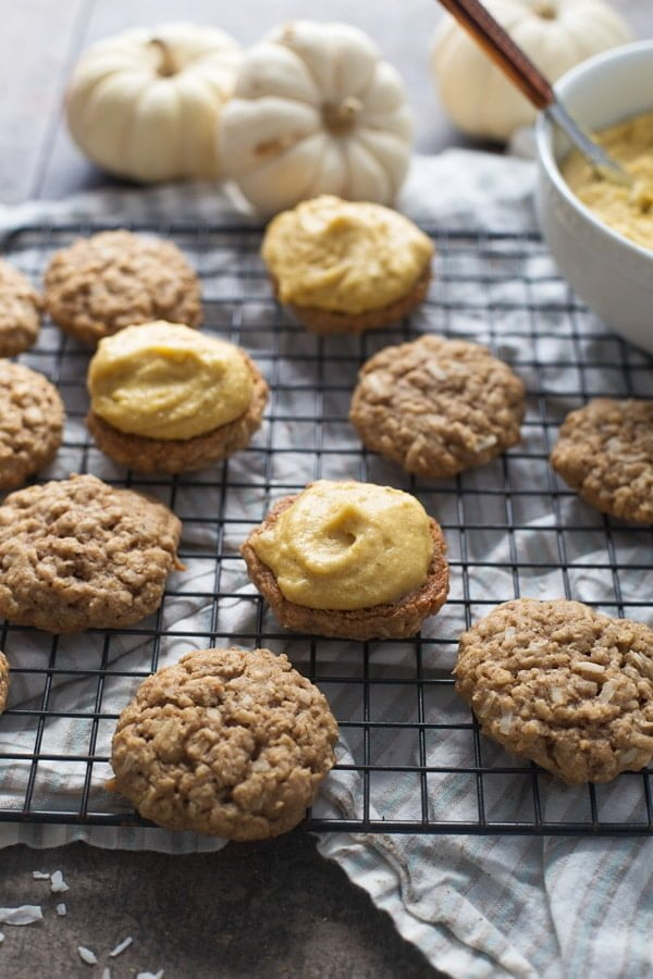atmeal and Coconut Cream Pies with Pumpkin Brown Butter Frosting