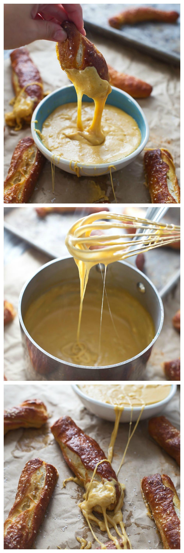 Soft Pretzel Sticks with Pumpkin Beer Fondue