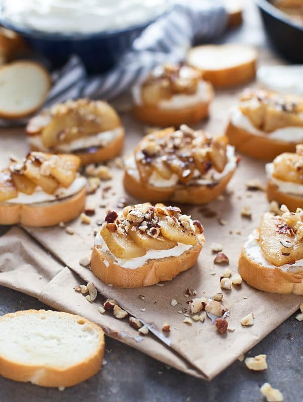 pear-crostini-with-homemade-whipped-ricotta-and-brown-butter-honey