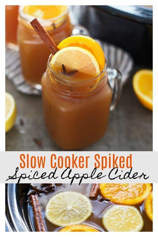 Slow Cooker Spiked Spiced Apple Cider