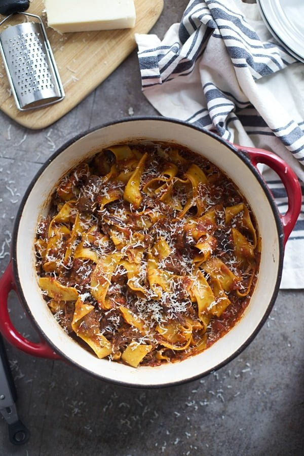 One Pot Short Rib Bolognese