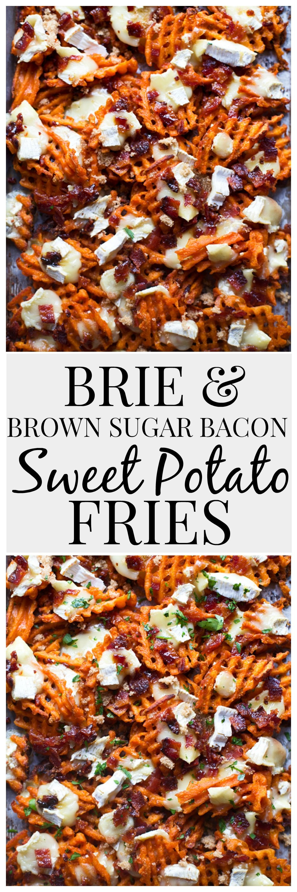 Brie & Brown Sugar Bacon Sweet Potato Fries