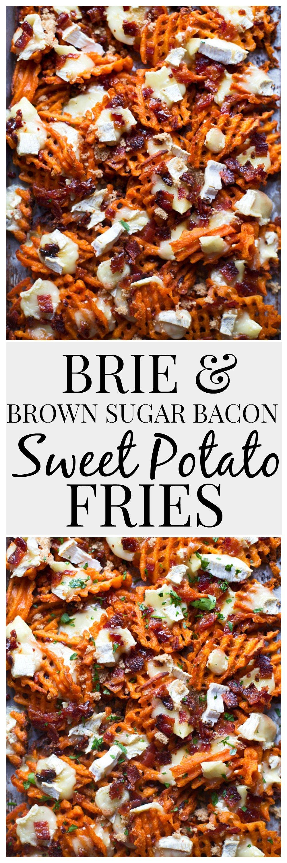 Brie & Brown Sugar Bacon Sweet Potato Fries