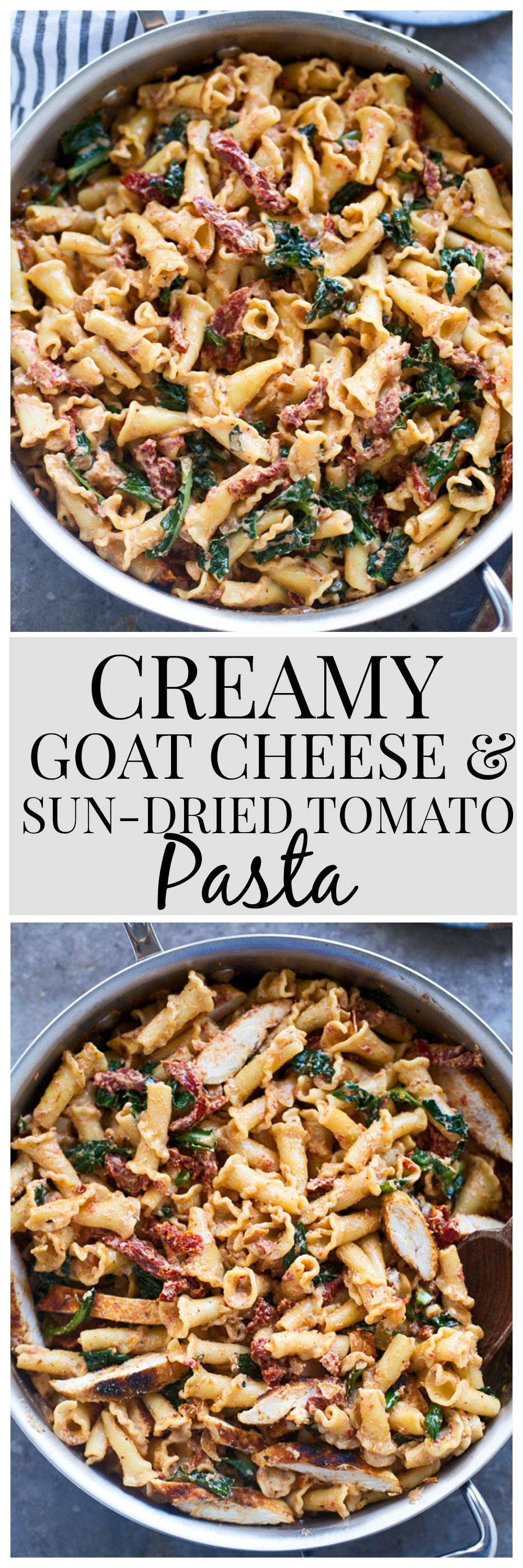 Creamy Goat Cheese and Sun-Dried Tomato Pasta - Cooking for Keeps