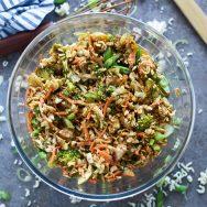 Broccoli Ramen Salad with Peanut Sauce