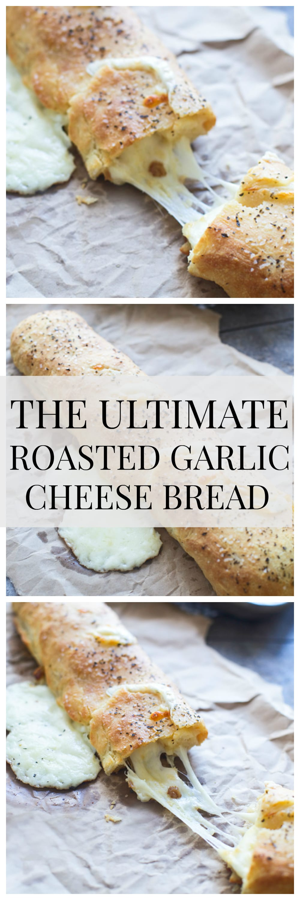 Roasted Garlic Cheesy Bread