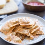 Homemade Bolognese Ravioli