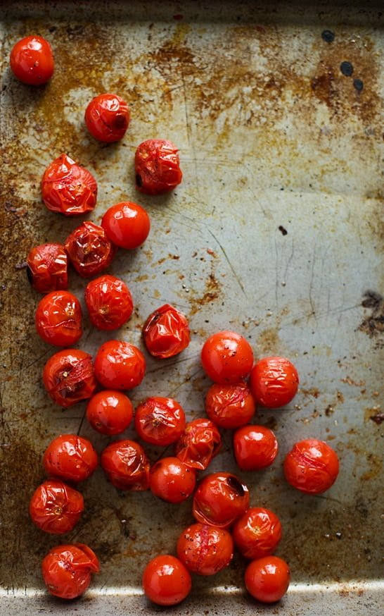 Homemade Pesto Whipped Ricotta with Roasted Cherry Tomatoes