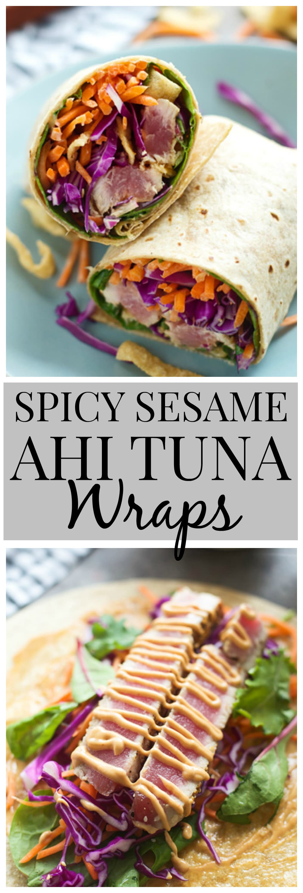 Spicy Sesame Ahi Tuna Wraps