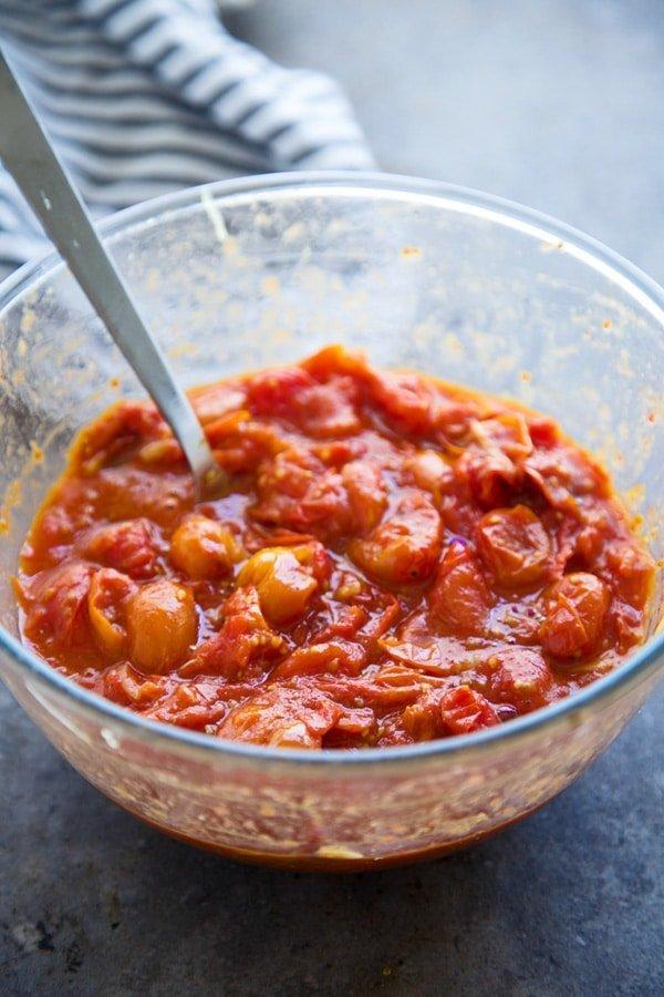 Roasted Cherry Tomato Spaghetti Squash Lasagna