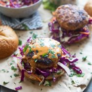 Coconut Red Curry Burgers