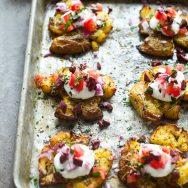 Crispy Greek Smashed Potatoes