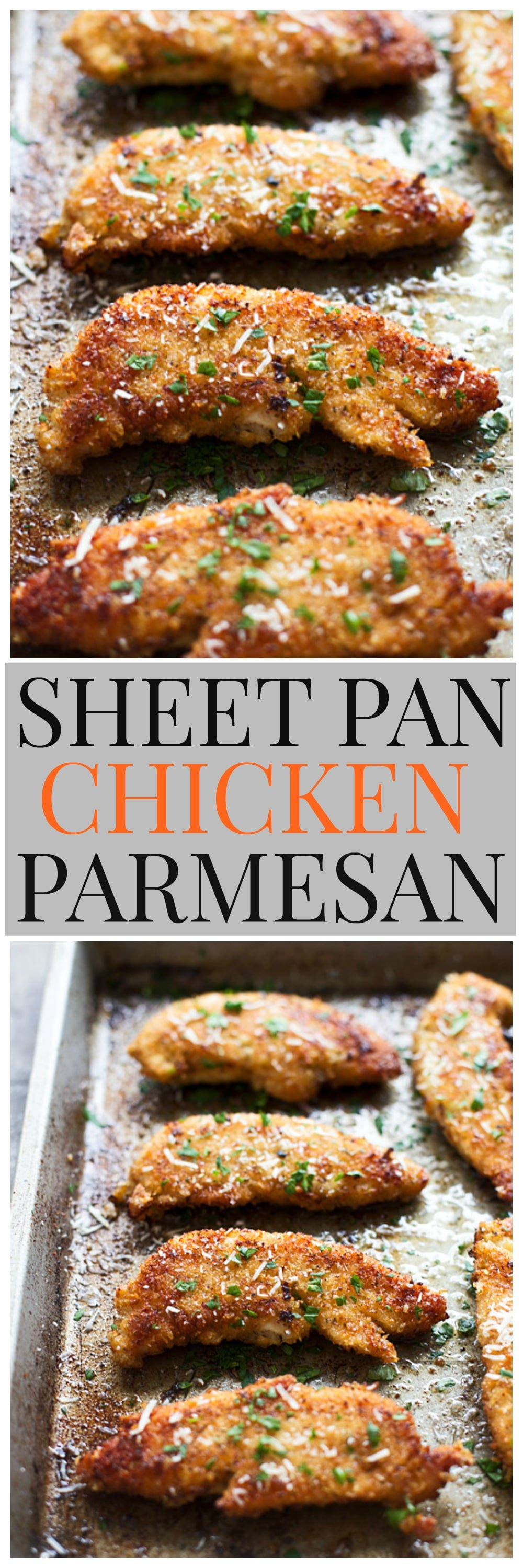 Crispy Sheet Pan Chicken Parmesan