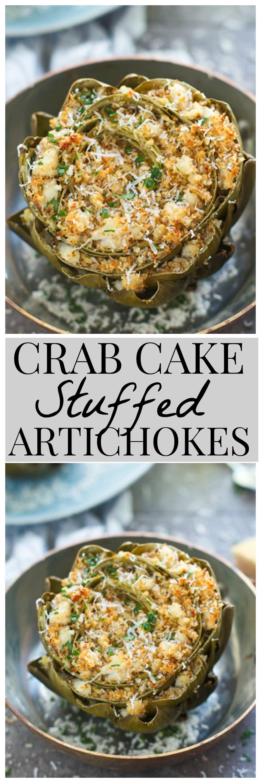 Crab Cake Stuffed Artichokes