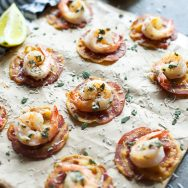 Shrimp Saltimbocca Bites