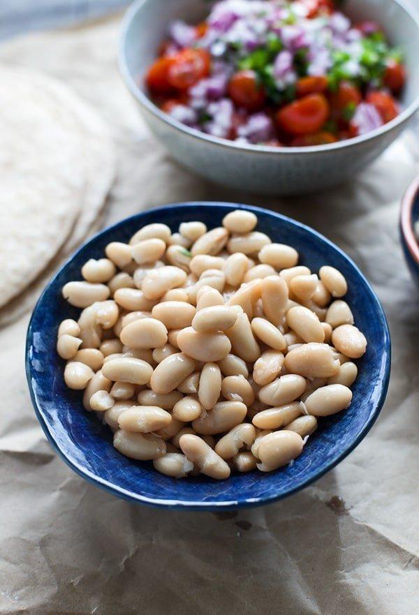 White Bean & Tuna Quesadillas with Cherry Tomato Pico