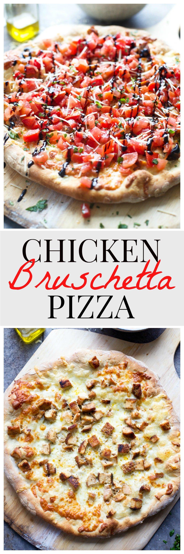 Easy Bruschetta Chicken Pizza