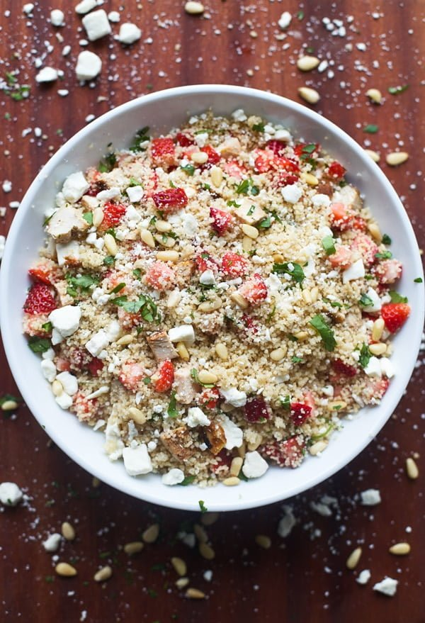 Strawberry, Feta and Chicken Couscous Salad