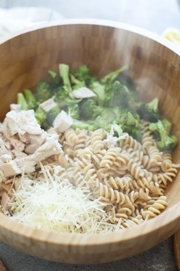 Lemony Roasted Chicken & Broccoli Rotini - Only 8 ingredients!
