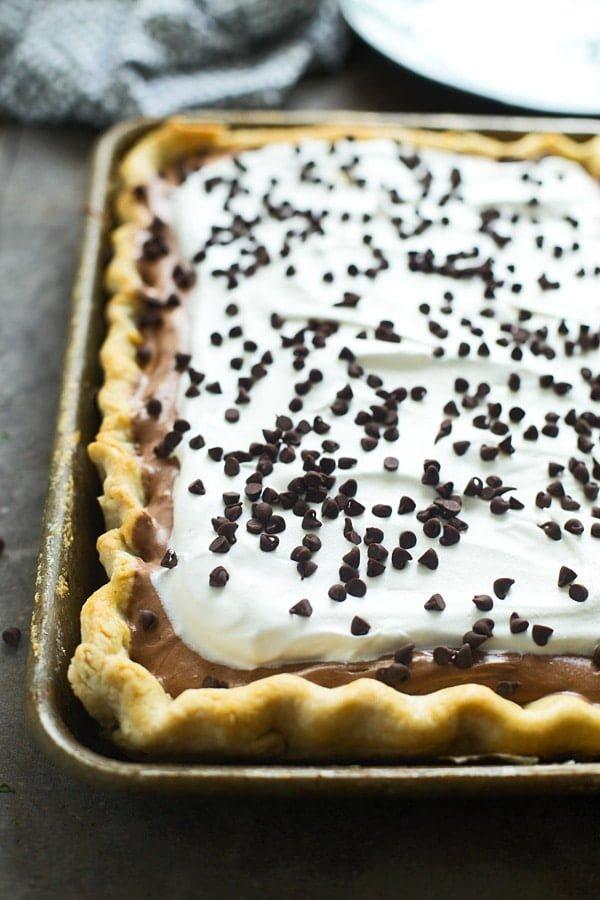 French Silk Slab Pie