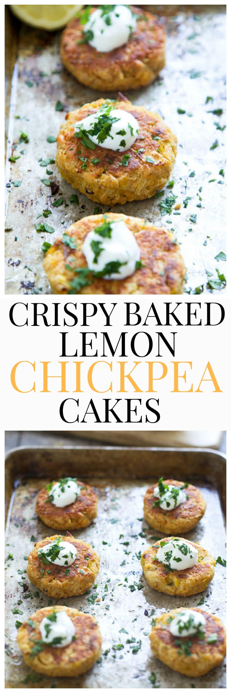 Crispy Baked Lemon Chickpea Cakes