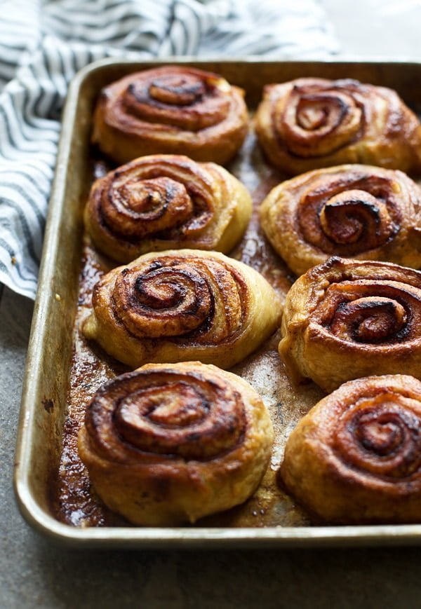 Pretzel Cinnamon Rolls with Cream Cheese Glaze