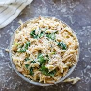 Creamy One Pot Spinach Orzo