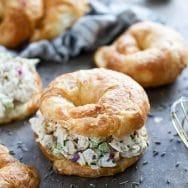 Healthy Lavender Chicken Salad Sandwiches