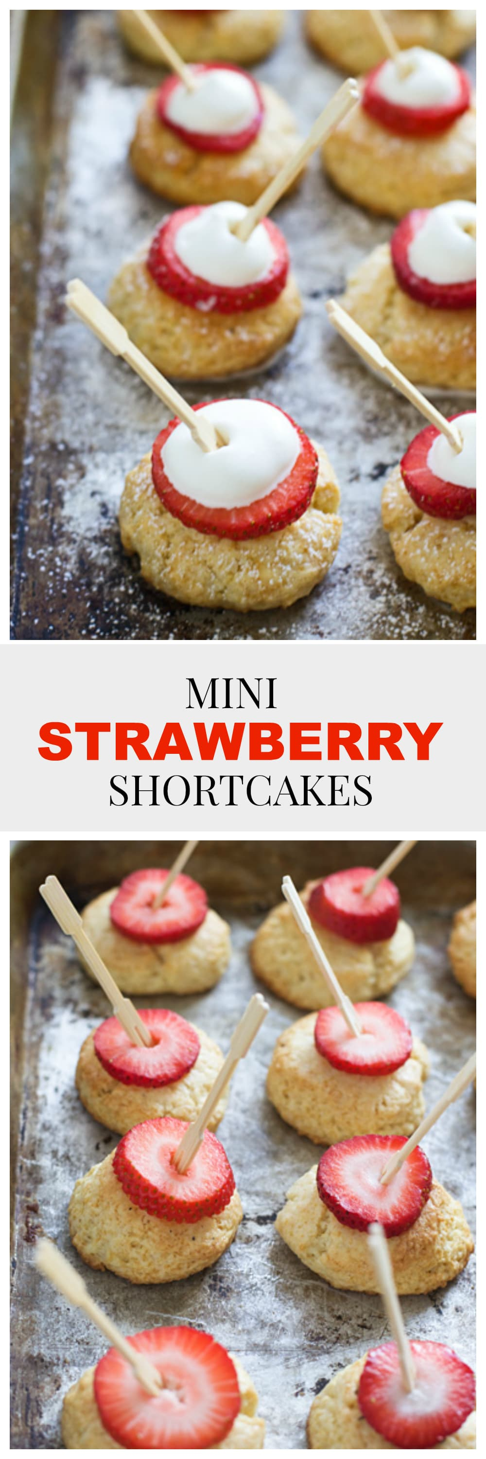 These Mini Strawberry Shortcakes are the perfect, easy delicious bite for summer entertaining!