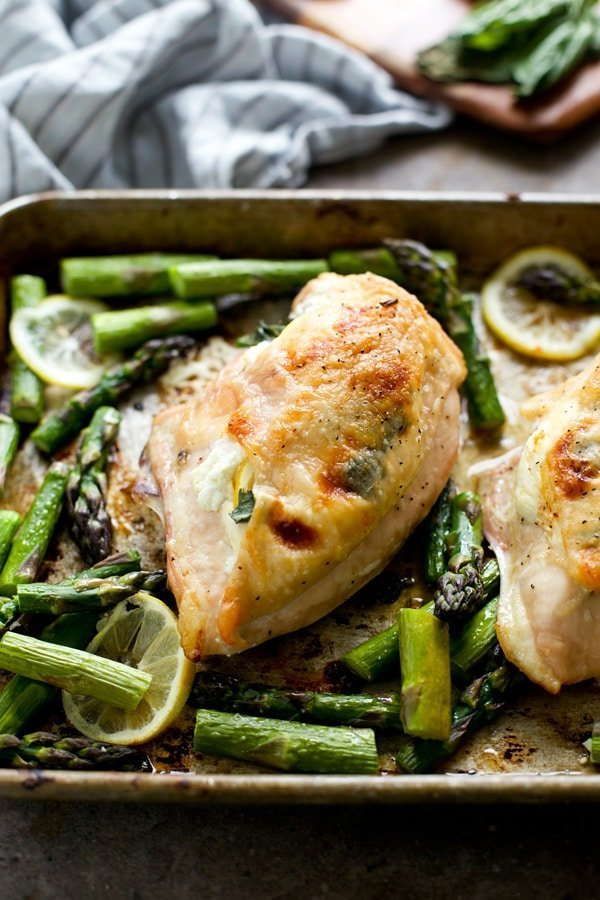 Goat Cheese and Lemon Stuffed Chicken