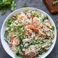 Shrimp Israeli Couscous Salad