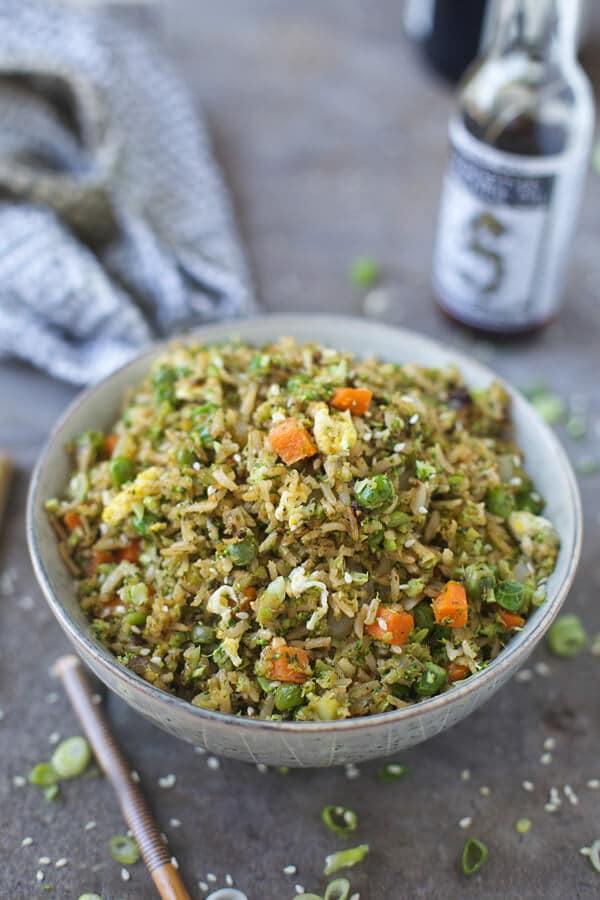 Easy Broccoli Fried Rice.