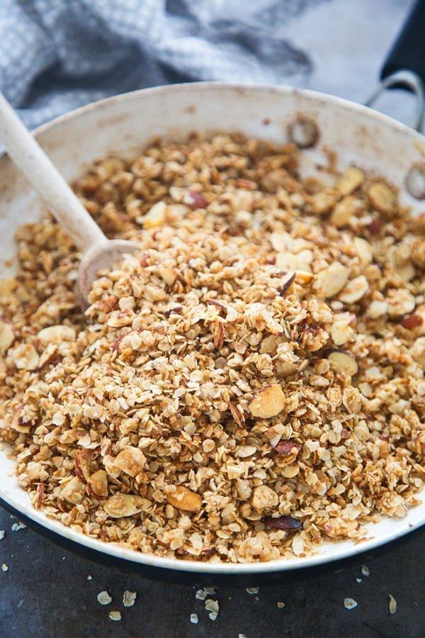 5-Ingredient, 5-Minute Stovetop Granola