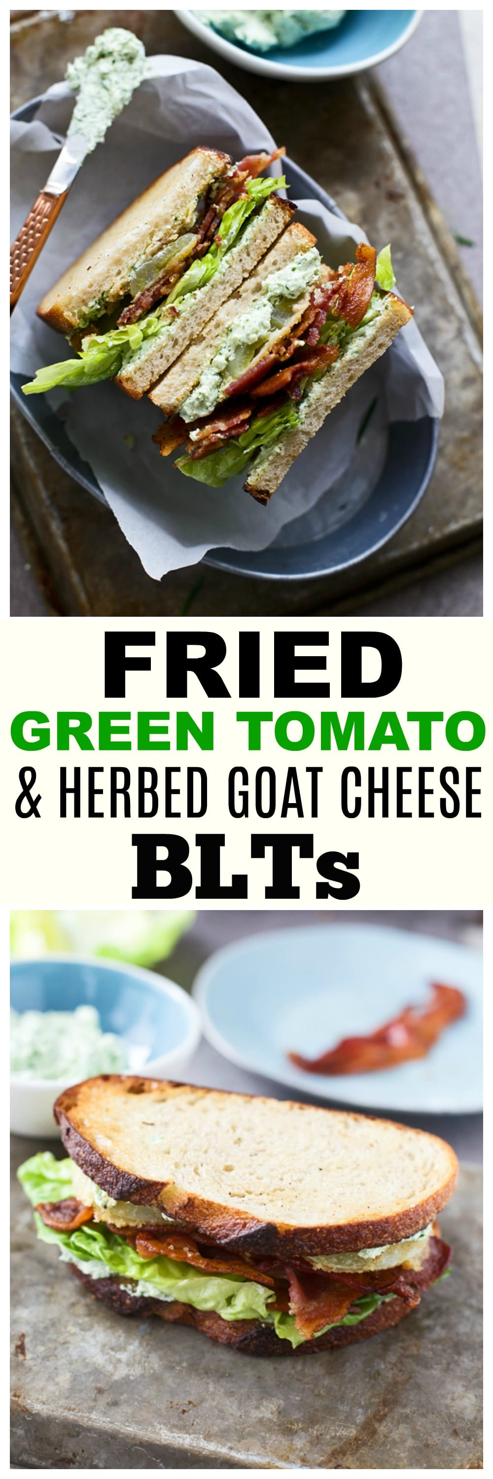 Fried Green Tomato & Goat Cheese BLT Sandwiches