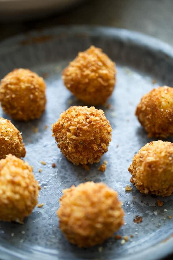 Crispy Fried Goat Cheese Balls