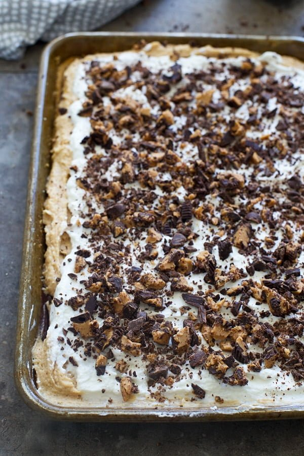 Five layer peanut butter pie