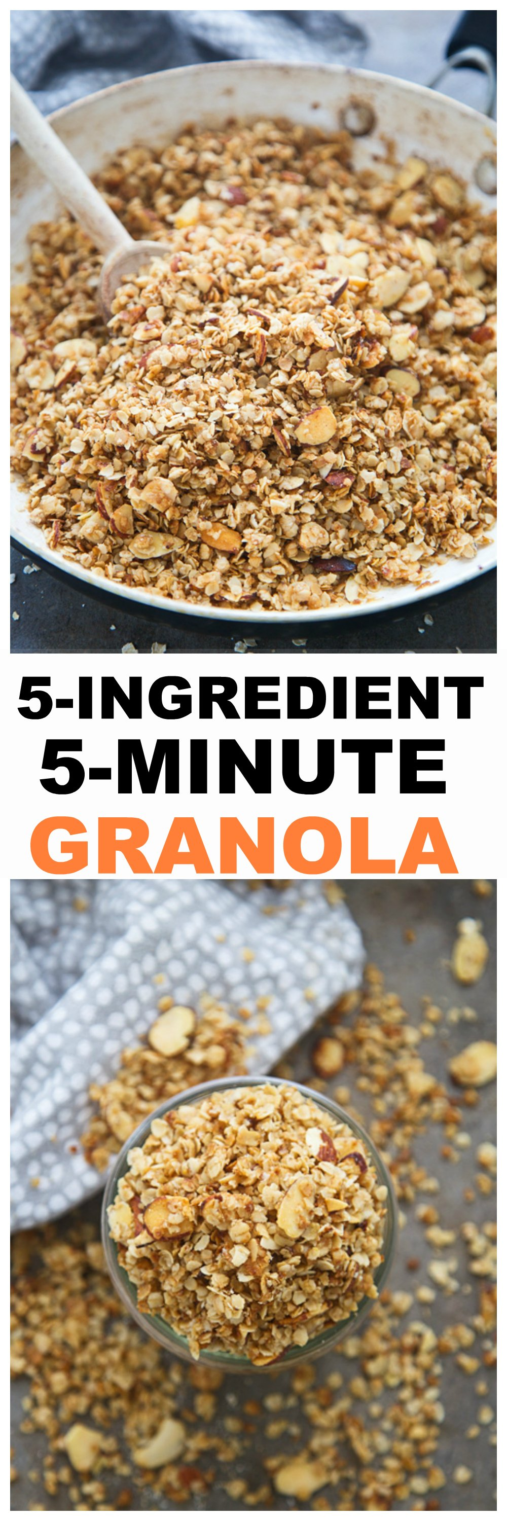 5-Ingredient, 5-Minute Stovetop Granola