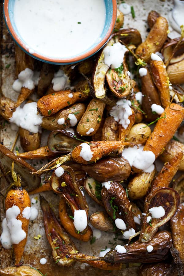 Roasted Summer Veggies with Lemon Zest and Fennel