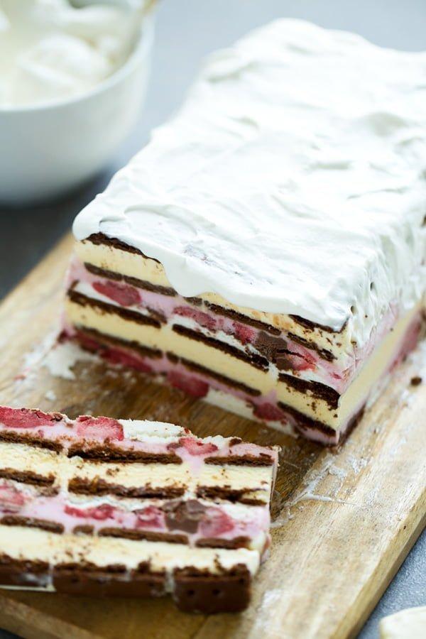 Strawberry Ice Cream Sandwich Cake